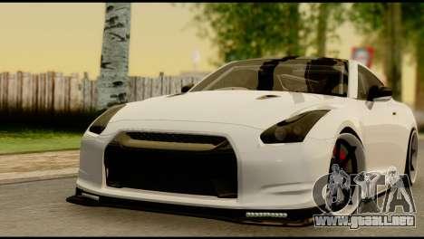 Nissan GT-R V2.0 para vista lateral GTA San Andreas