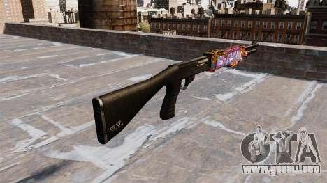 Ружье Franchi SPAS-12 Graffiti para GTA 4 segundos de pantalla