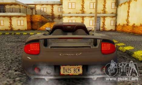 Porsche Carrera GT 2005 para la visión correcta GTA San Andreas