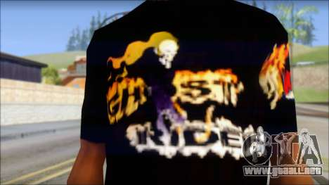 Ghost Rider T-Shirt para GTA San Andreas tercera pantalla