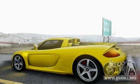 Porsche Carrera GT 2005 para la vista superior GTA San Andreas