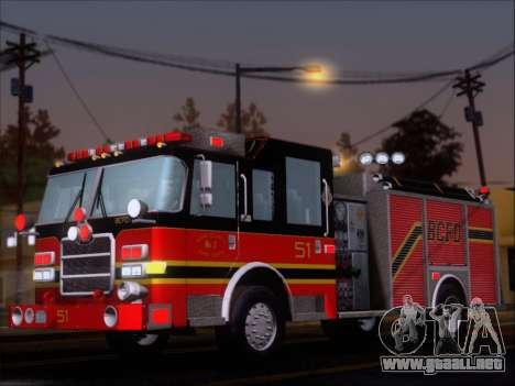 Pierce Arrow XT 2009 BCFD para visión interna GTA San Andreas