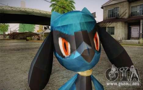 Riolu from Pokemon para GTA San Andreas tercera pantalla