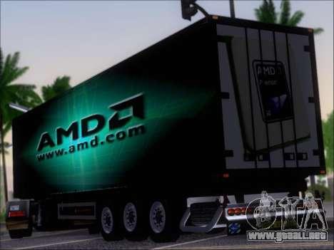Trailer AMD Phenom X4 para GTA San Andreas vista posterior izquierda