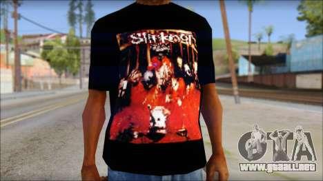 SlipKnoT T-Shirt mod para GTA San Andreas tercera pantalla