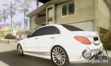 Mercedes-Benz C250 AMG para GTA San Andreas vista posterior izquierda