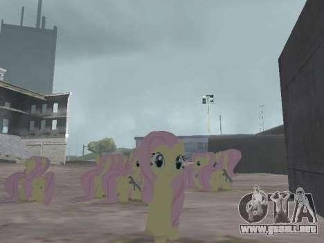 Fluttershy para GTA San Andreas tercera pantalla