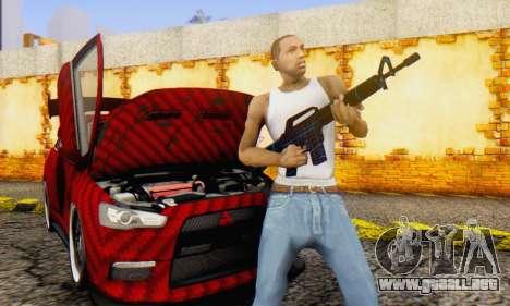 Abstract M16 para GTA San Andreas sucesivamente de pantalla