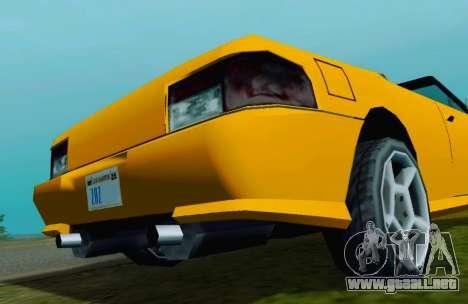 Sultan Сabriolet v2.0 para la visión correcta GTA San Andreas