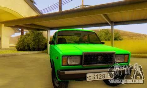 VAZ 2107 Stock para la visión correcta GTA San Andreas