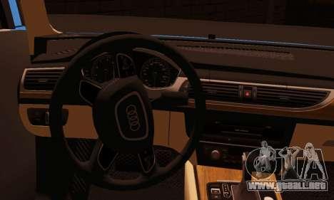 Audi S6 Avant 2014 para GTA San Andreas vista posterior izquierda