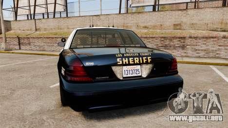 Ford Crown Victoria Sheriff [ELS] Slicktop para GTA 4 Vista posterior izquierda