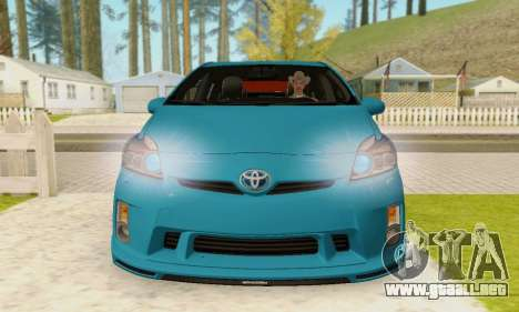 Toyota Prius Tunable para GTA San Andreas vista hacia atrás