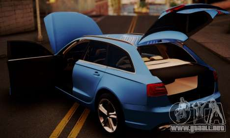 Audi S6 Avant 2014 para GTA San Andreas vista hacia atrás