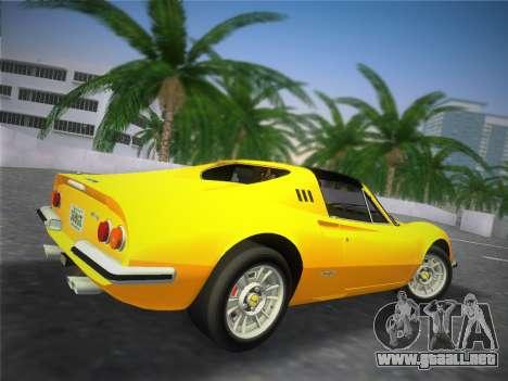 Ferrari 246 Dino GTS 1972 para GTA Vice City vista posterior