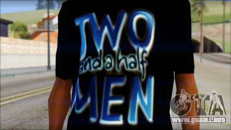 Two and a half Men Fan T-Shirt para GTA San Andreas tercera pantalla