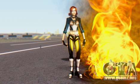 Jessica para GTA San Andreas tercera pantalla