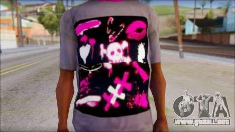 Emo T-Shirt para GTA San Andreas tercera pantalla