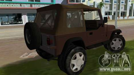 Jeep Wrangler para GTA Vice City left