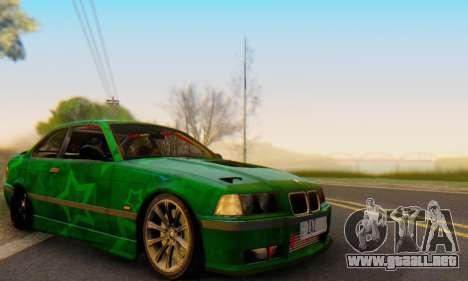 BMW M3 E36 Coupe Blue Star para visión interna GTA San Andreas