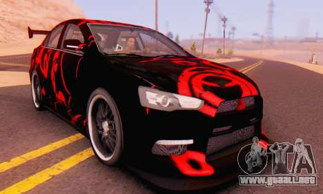 Mitsubishi Lancer EVO X Abstraction para GTA San Andreas