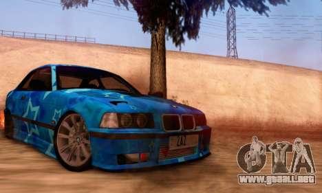 BMW M3 E36 Coupe Blue Star para la visión correcta GTA San Andreas