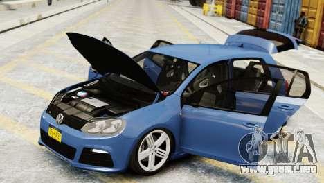 Volkswagen Golf R 2010 para GTA 4 visión correcta