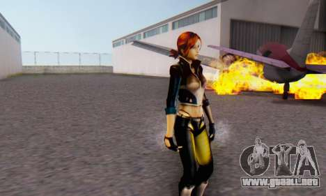 Jessica para GTA San Andreas sucesivamente de pantalla