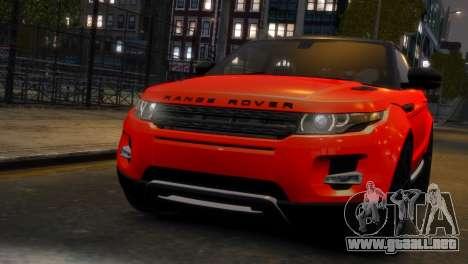Land Rover Range Rover Evoque para GTA 4 Vista posterior izquierda