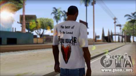 Papa Roach The Best Of To Be Loved Fan T-Shirt para GTA San Andreas segunda pantalla