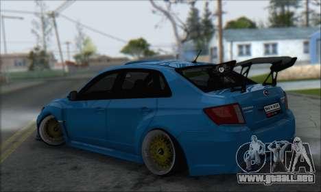 Subaru Impreza WRX STI 2010 para GTA San Andreas vista hacia atrás
