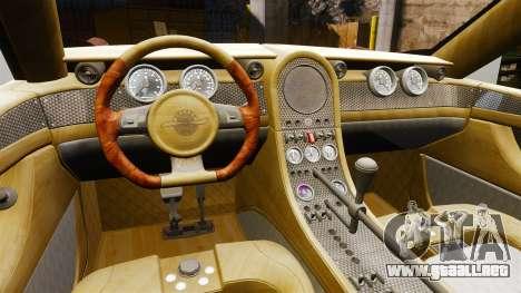 Spyker D8 para GTA 4 vista hacia atrás