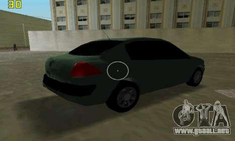 Renault Megane Sedan 2001 para GTA Vice City vista interior