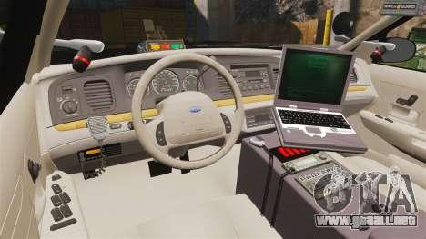 Ford Crown Victoria Sheriff [ELS] Marked para GTA 4 vista hacia atrás