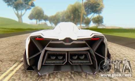Lamborghini Egoista Concept 2013 para la visión correcta GTA San Andreas