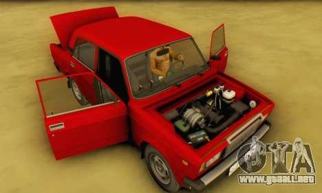 VAZ 2107 Stock para visión interna GTA San Andreas