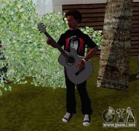 T-shirt c Viktor Tsoi para GTA San Andreas sucesivamente de pantalla