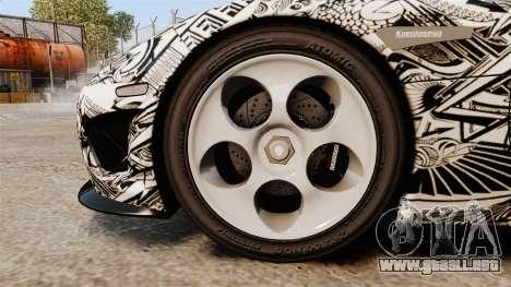 Koenigsegg CCX v1.5 para GTA 4 vista hacia atrás