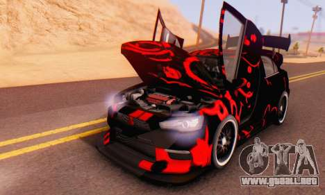 Mitsubishi Lancer EVO X Abstraction para visión interna GTA San Andreas