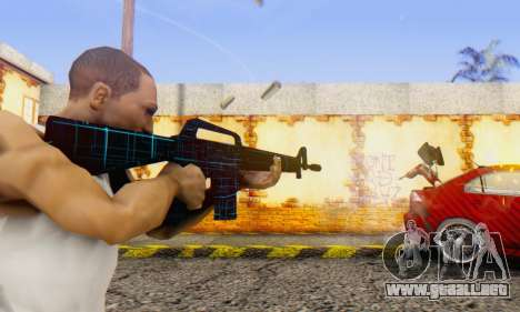 Abstract M16 para GTA San Andreas segunda pantalla