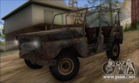 Quemado UAZ 469 para GTA San Andreas left