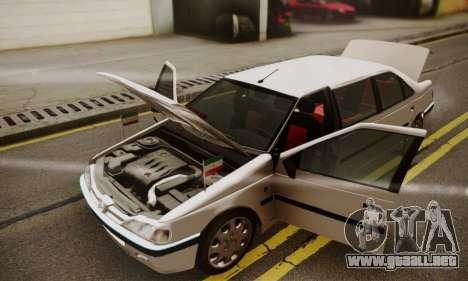 Peugeot Pars Limouzine para la vista superior GTA San Andreas