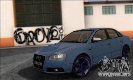 Audi S4 4.0 Quattro 2006 para GTA San Andreas