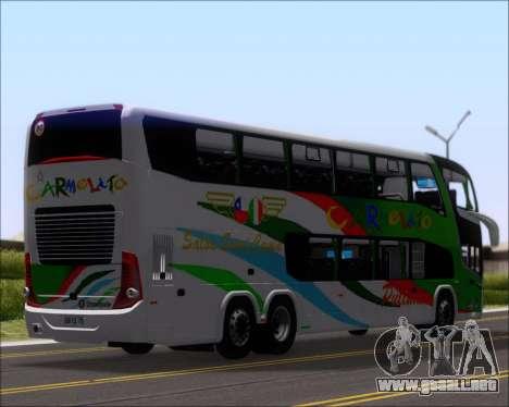 Marcopolo Paradiso G7 1800 DD 6x2 Scania K420 para GTA San Andreas vista hacia atrás