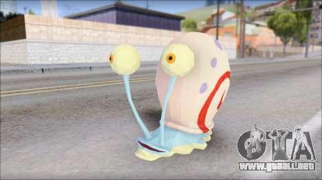 Gary (bob esponja) para GTA San Andreas