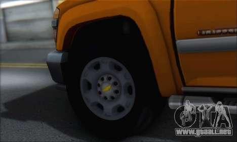 Chevrolet Colorado Cleaning para visión interna GTA San Andreas