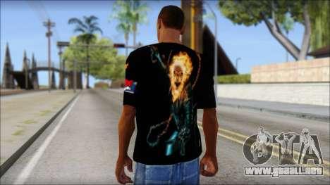 Ghost Rider T-Shirt para GTA San Andreas segunda pantalla