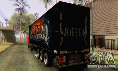 Trailer Chereau Morton Banda 2014 para GTA San Andreas vista posterior izquierda