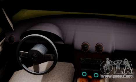 Mazda MX5 DUB para GTA San Andreas vista posterior izquierda