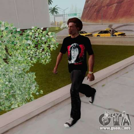 T-shirt c Viktor Tsoi para GTA San Andreas